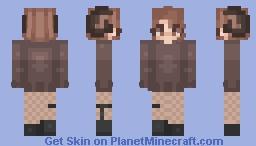 Brown Horns Minecraft Skin