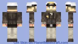 Kriegsmarine U-Boot captain Minecraft Skin