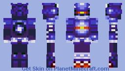 Mecha Sonic Minecraft Skin