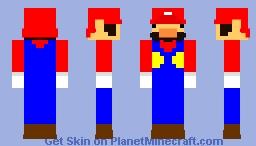 Derpy Mario Minecraft Skin