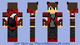 Red Wolf Boy Minecraft Skin