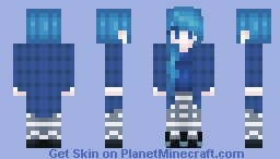 Blue Winter Sleep Minecraft Skin