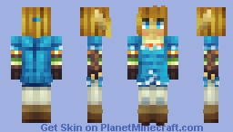 Link from Breath of The Wild Minecraft Skin