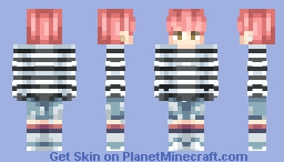 "Jimin (Park Jimin) ~ Bts -""Spring Day""Outfit- Minecraft Skin"