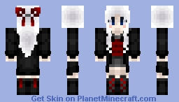 Monochrome + Red Minecraft Skin