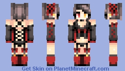 ⏰Kurumi Tokisaki⏰Popreel! Minecraft Skin