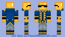 Mr. Gold v2 Minecraft Skin