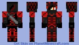 Red Skeleton Hunter Minecraft Skin