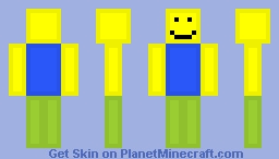 roblox noob new player minecraft skin