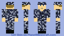 Modern US Navy Sailor: NWU Type 1 Digital Blue Minecraft Skin