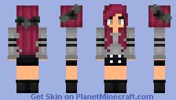 Cute goth girl Minecraft Skin