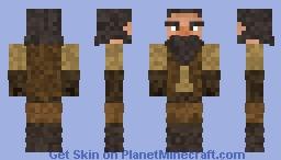 Dwarf with barrel stilts Minecraft Skin