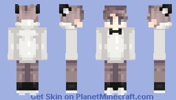 Guy with bow tie and cat ears. Minecraft Skin