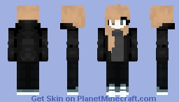 Black & Blonde Minecraft Skin
