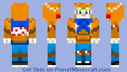 Stampy with hoodie and mask Minecraft Skin