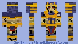 Ancient Undead Ishtari Minecraft Skin
