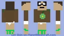 DirtMAN! Minecraft Skin