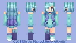 a million shades of blue Minecraft Skin