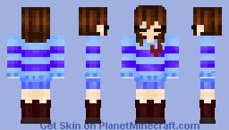 ColorShift Frisk Minecraft Skin