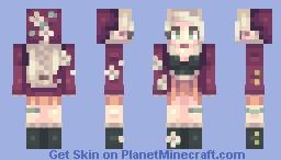 running out Minecraft Skin