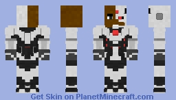 Cyborg | Injustice 2 Minecraft Skin