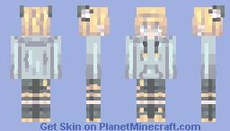 ~鏡音レン ~猫/パーカー~ Minecraft Skin