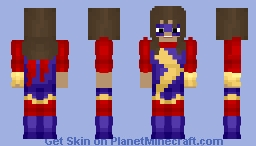 Ms. Marvel (Kamala Khan) Minecraft Skin