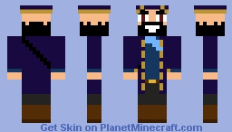 Captain Beardy Beard Minecraft Skin
