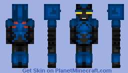 Blue Beetle Rebirth - Jaime Reyes Minecraft Skin