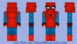 Spider man home coming orignal suit! Minecraft Skin