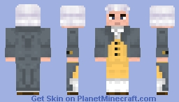 Colonial Base [Removable Wig and Coat] Minecraft Skin