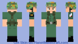 U.S.M.C (Vietnam War) (Re-Make) Minecraft Skin