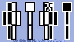 Half White/Half Black Creeper Minecraft Skin