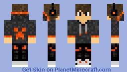 Orange hood boy Minecraft Skin