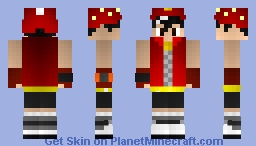 BoBoiBoy Fire (from BoBoiBoy Galaxy) Minecraft Skin