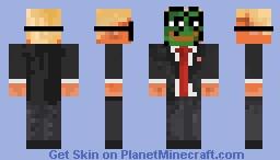 DONALD TRUMP with optional Pepe mask! Minecraft Skin