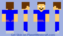 Happy herobrine Minecraft Skin
