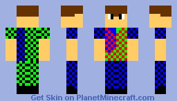 PVP Dude red.green.blue,back Minecraft Skin