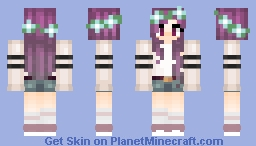 ~The_Victorious13~ Purple hair girl Minecraft Skin