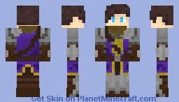 Medieval Purple Knight Minecraft