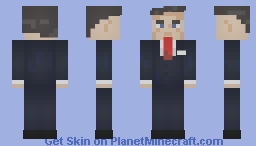 Ronald Reagan (Shaded) Minecraft Skin