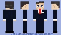 Ronald Reagan Minecraft Skin