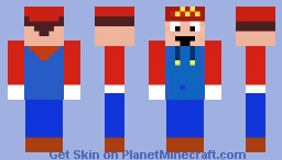 Happy mario Minecraft Skin