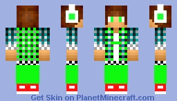 Pvp Dude green Minecraft Skin