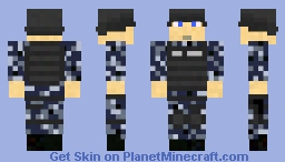 US Navy Security Guard: NWU with Delta Gear. Minecraft Skin