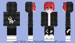 Punk boy with red hair Minecraft Skin