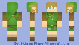 Breath of the Wild Link (Wild Set) Minecraft Skin