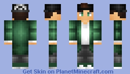 Green Coat and Hat Minecraft Skin