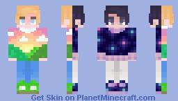 🌑 Night // Day ☀ ~ cfhminecraft ~ popreel! Minecraft Skin