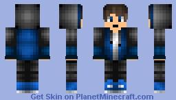 Blue Hoodie Boy Vince4u Minecraft Skin